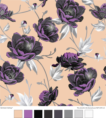 Angular Floral Print