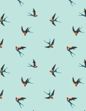 Colorful Sparrow Print ALLOVER
