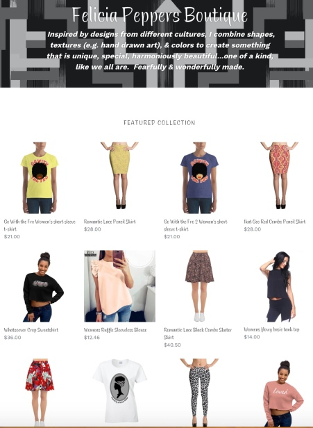 Shopify Website Page